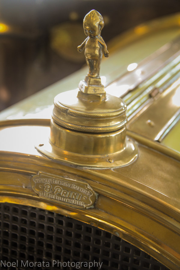 Cupie doll detail to a vintage car at the Museo Nicolis