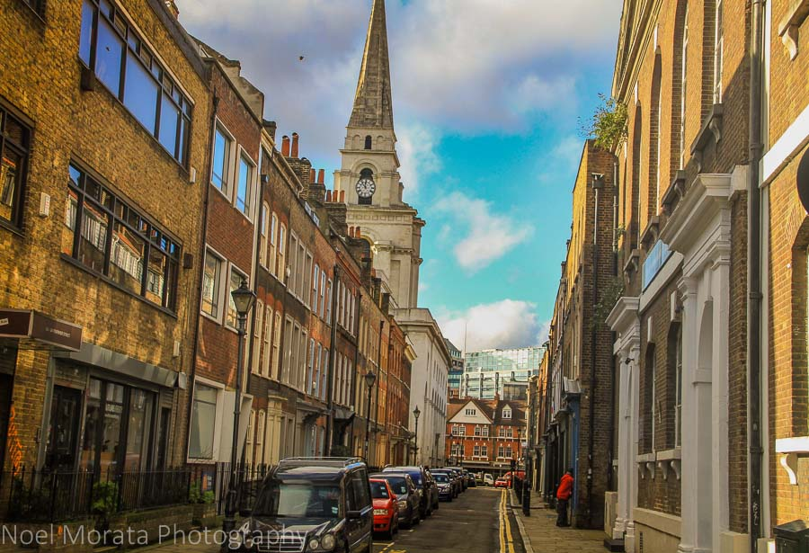 Ethnic eateries and shops at Brick Lane