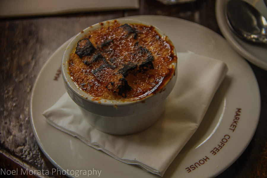 Bread pudding at The English Restaurant