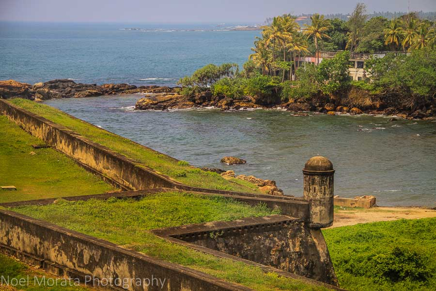 Galle fort details and coastline