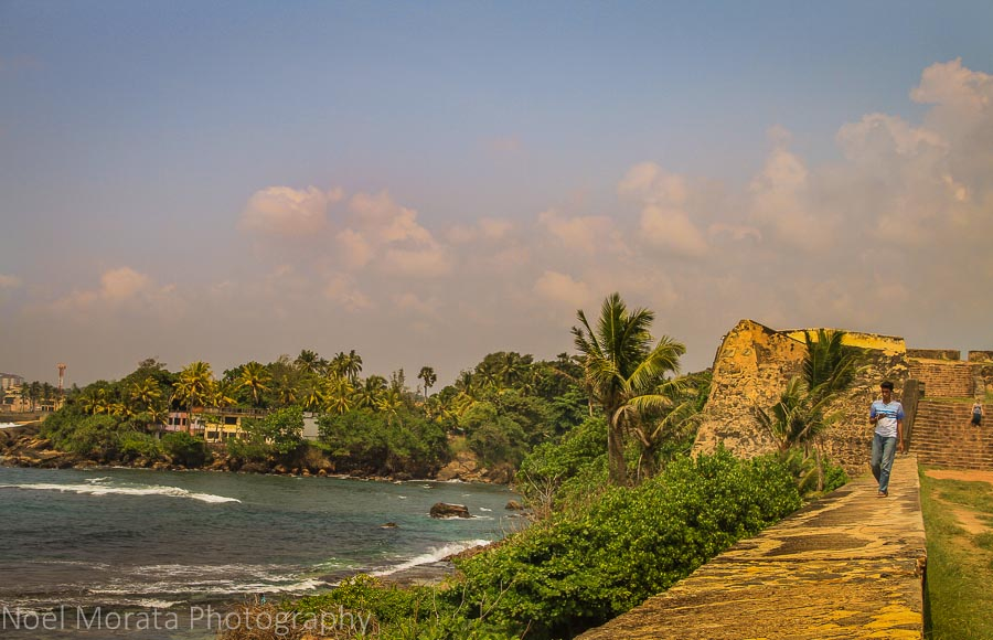 The old ramparts and scenic views at Galle, Sri Lanka