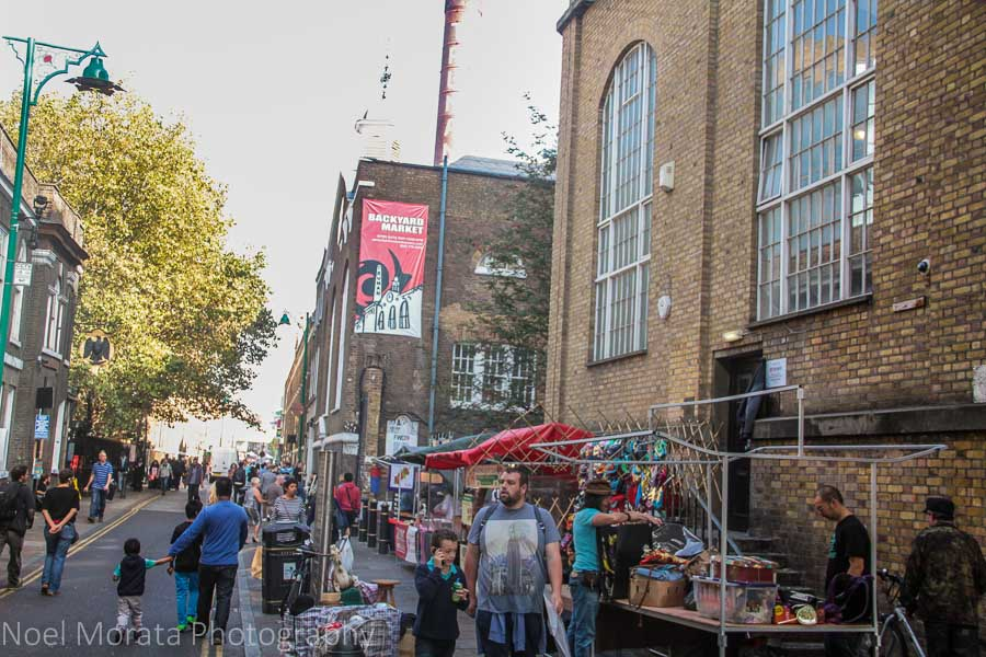 Outdoor shopping venues in East London