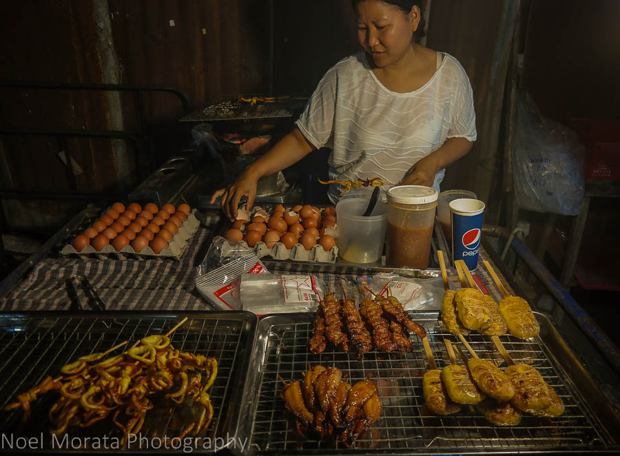 Grilled specialties at Chiang Khan evening market