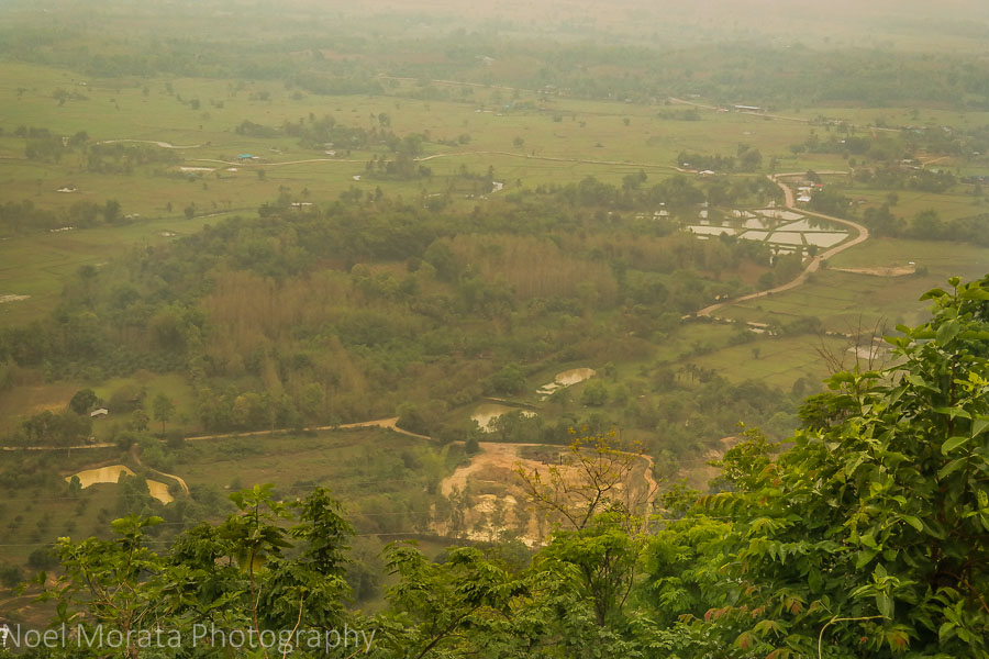 Looking down to the Loei region, Northern Thailand