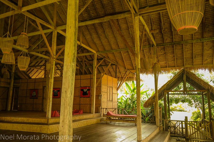 Extra large tiered living areas of the Eco Lisu lodge villas