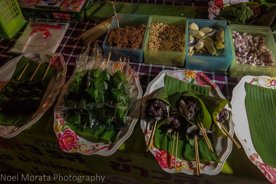 Street food in Chiang Khan's night market