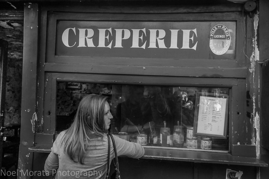 Waiting for a crepe in Monmarte, Paris