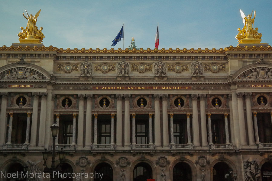 The Opera house in Paris, France