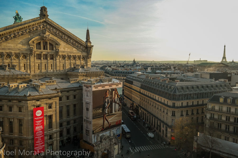 View of Paris from above - Galleries Lafayette