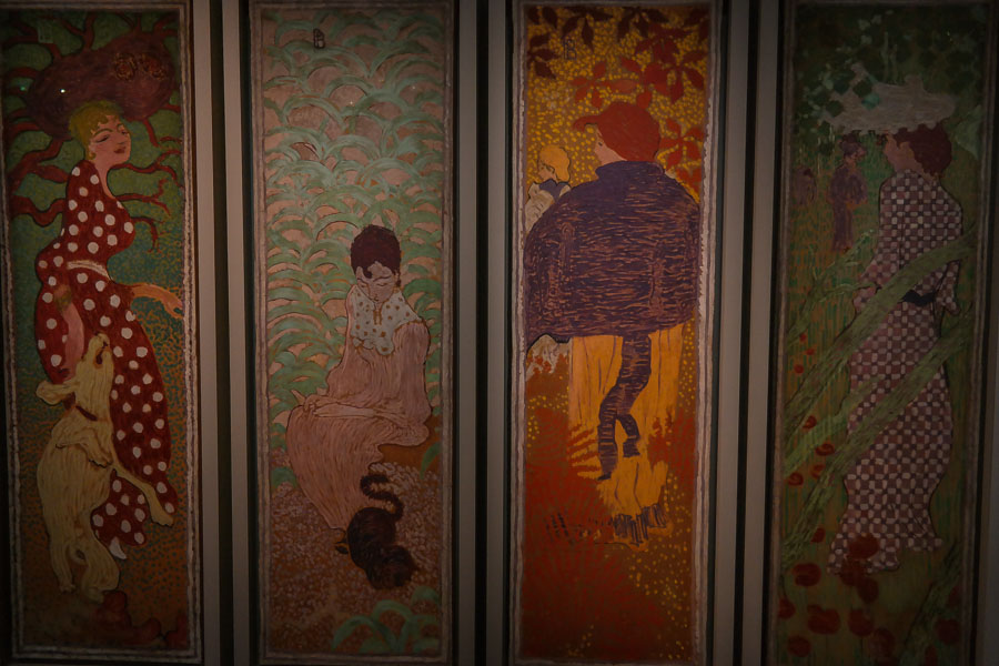 Paneled Pierre Bonnard paintings at the D'Orsay