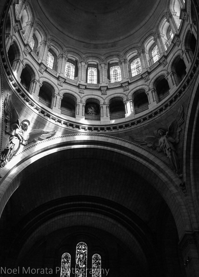 interior view of Sacre Coeur, Paris