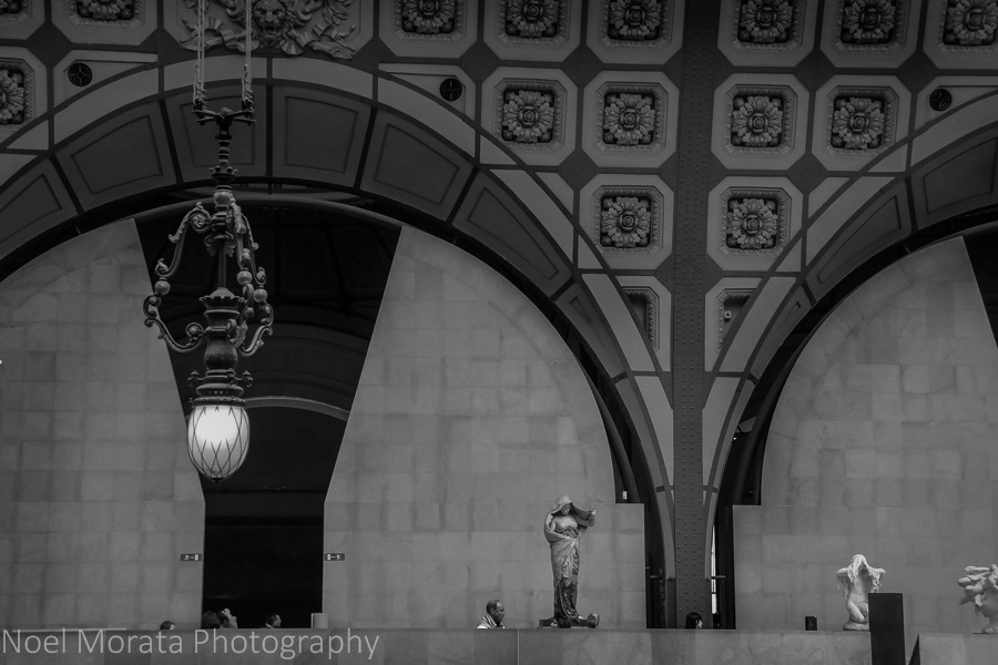 Looking across the grand hallway at the D'orsay