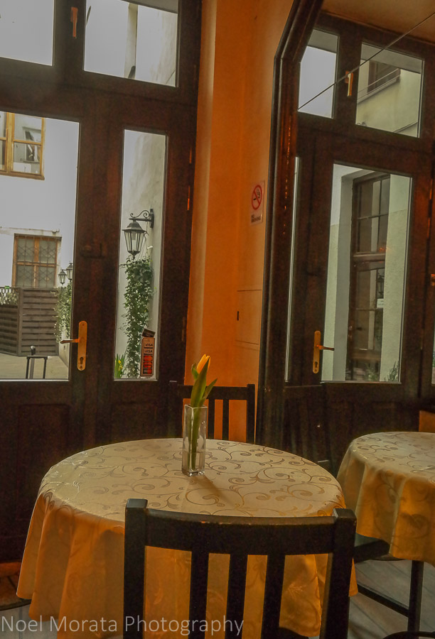 Breakfast area of the Tango House in Krakow