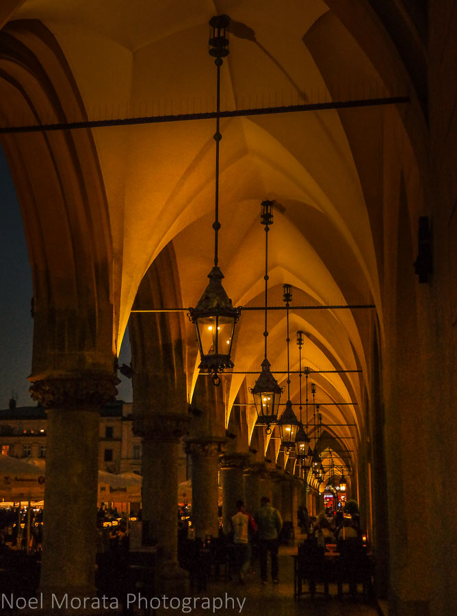 Arcade walkways of the Cloth hall in the old town, Krakow