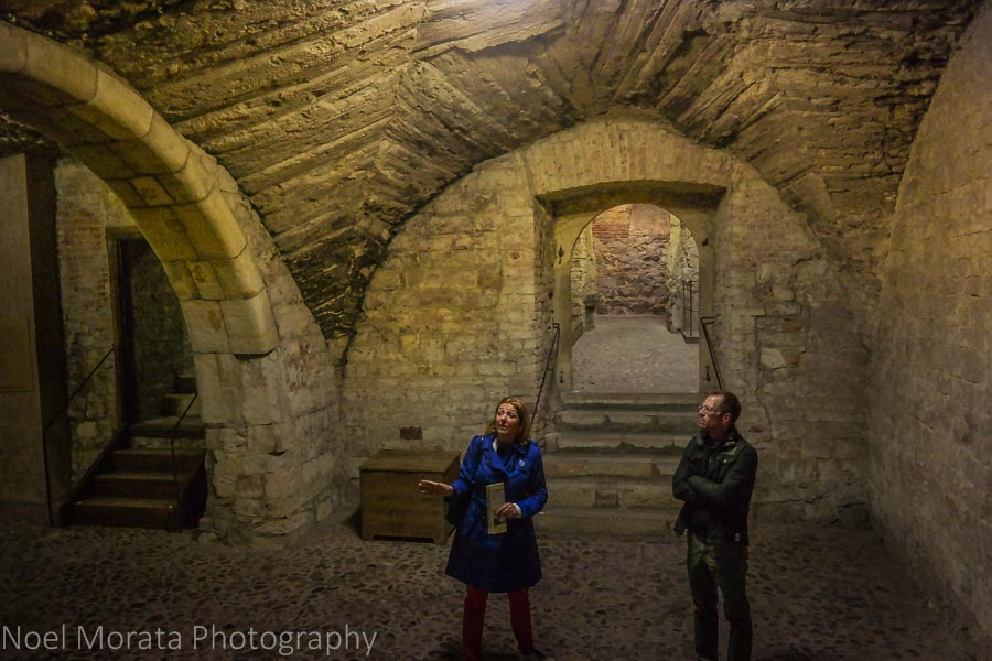 Prague's historic cellars in the Old Town Hall
