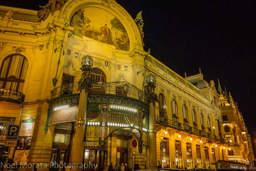 Municipal Hall - a concert hall venue and restaurants in Prague's old town