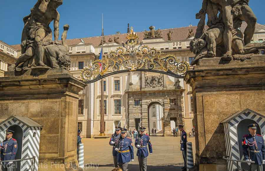 Prague castle in the 'New town'