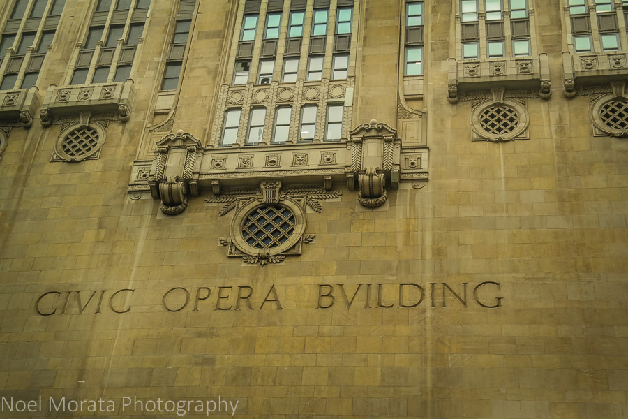The Civic Opera Building - Chicago river cruise