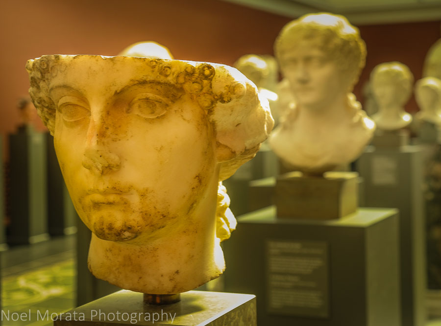 Roman busts and statuary at the Glyptotek