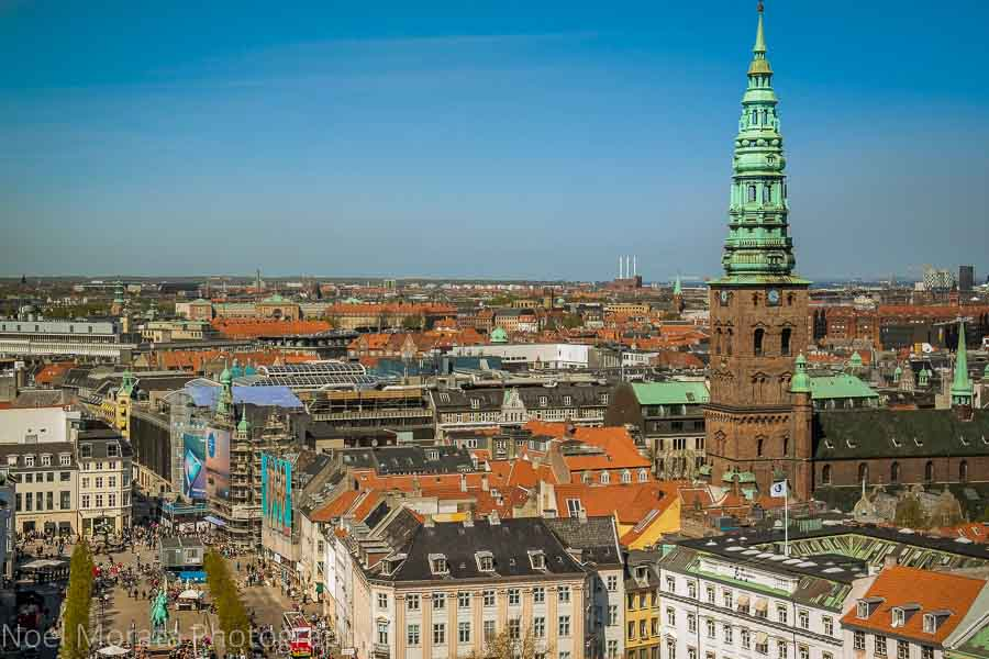 Christiansborg Palace tower views of Copenhagen