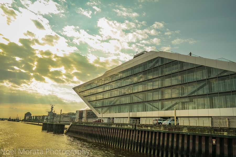 Dramatic architecture along Hamburg's harbor