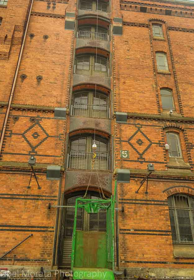 Design details at the Speicherstadt Warehouse District