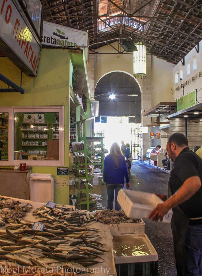 The agora market - Exploring Chania, Crete