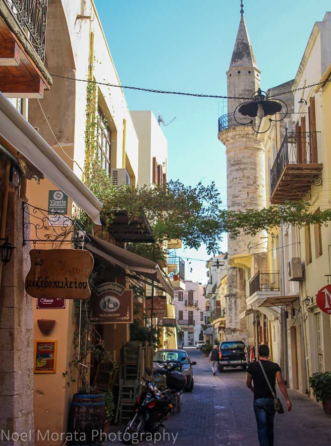 Narrow passageways in Chania, Crete