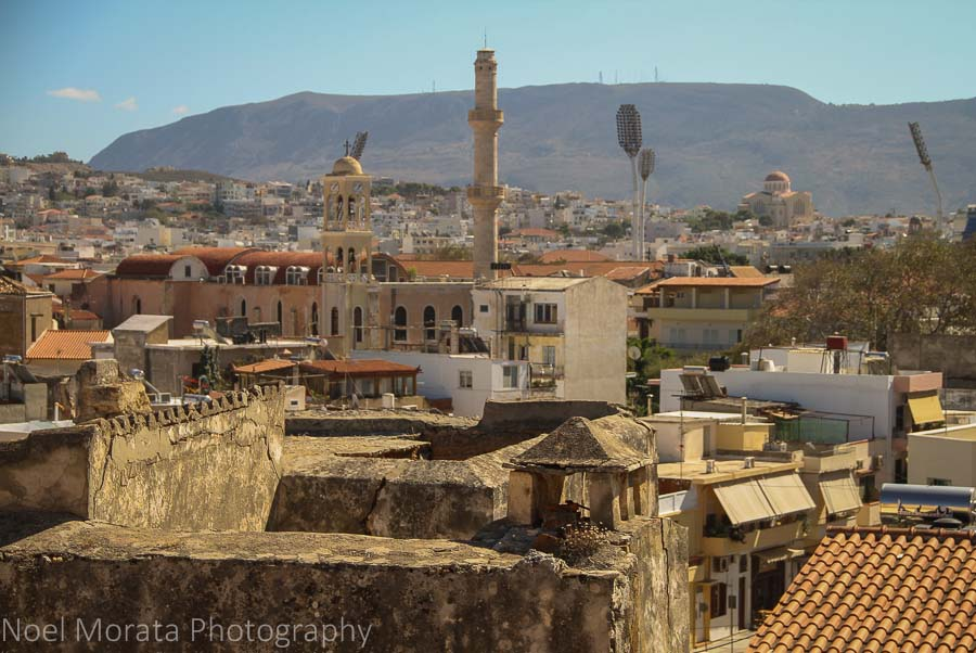 Chania from above at the Minoan hill Chania, Crete