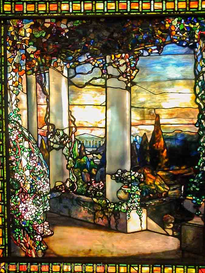 Tiffany glass window at the Cleveland Museum of Art