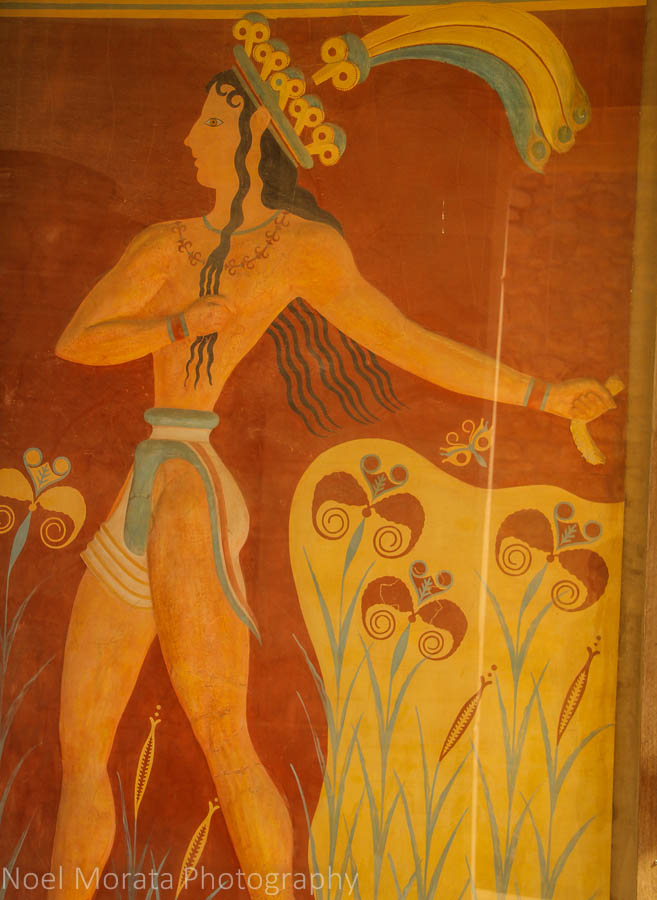 Wall mural at Knossos - A visit to Knossos in Crete