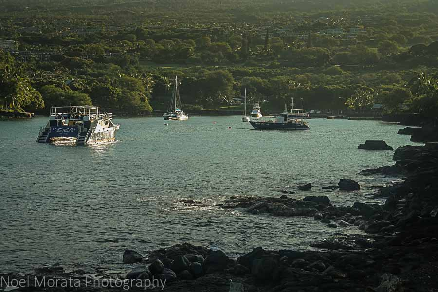 Morning light at Keauhou - Travel Photo Postcard - Keauhou, Hawaii