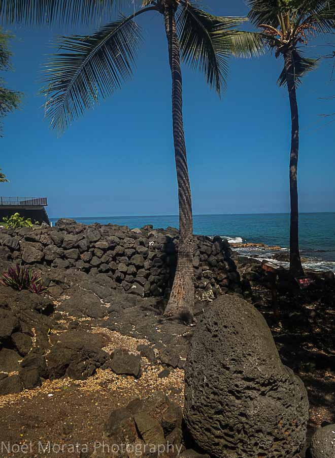 Heiau and artifacts at Keauhou - Visiting Keauhou on the Big Island