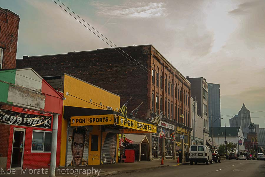 International markets and eateries at the Strip District in Pittsburgh
