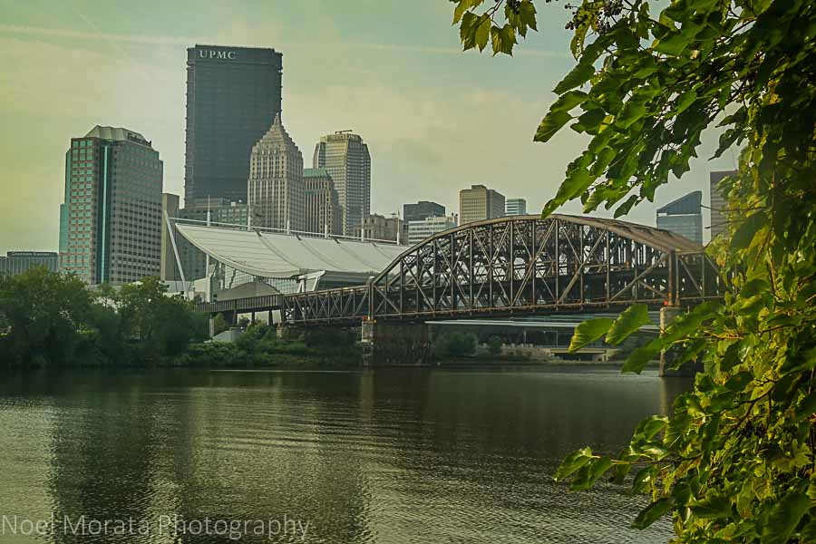Allegheny riverfront facing Pittsburgh, Pennsylvania