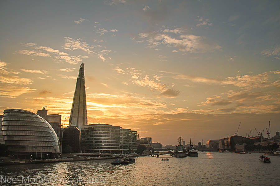 The Shard tower at sunset - Cool attractions to explore in South bank