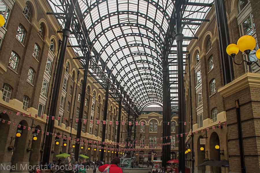 Glass arcade venue in Bankside, London
