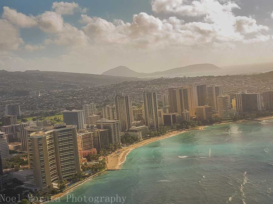 Coastal views above Waikiki - Helicopter ride around Oahu