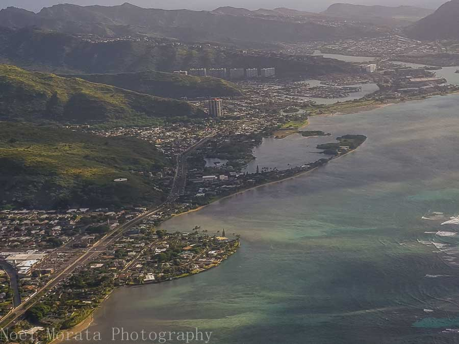 Oahu's eastern coastal area - Helicopter ride around Oahu