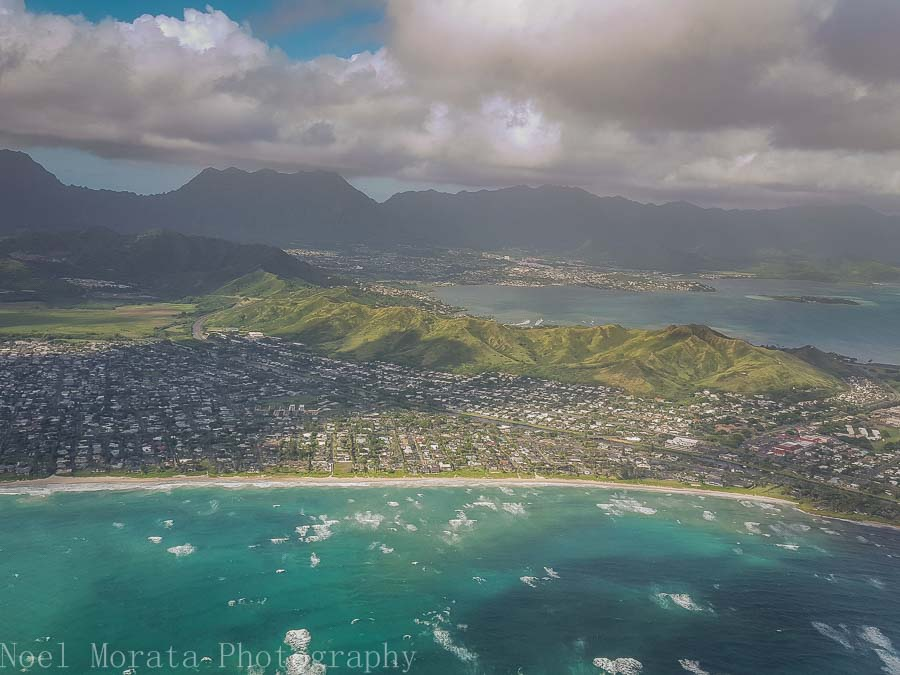East Oahu's coastline- Helicopter ride around Oahu