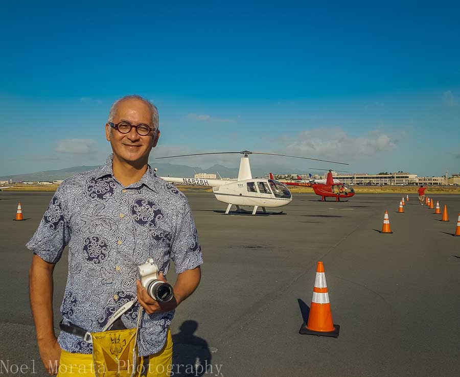 Taking off from Honolulu airport Novitour - Helicopter ride around Oahu