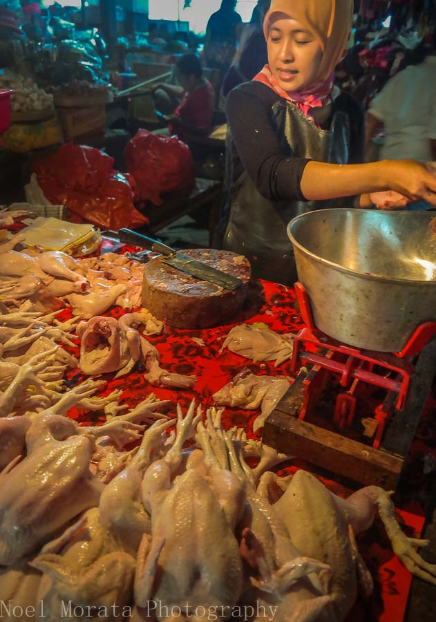 Local chicken vendor in Tabanan province in Bali