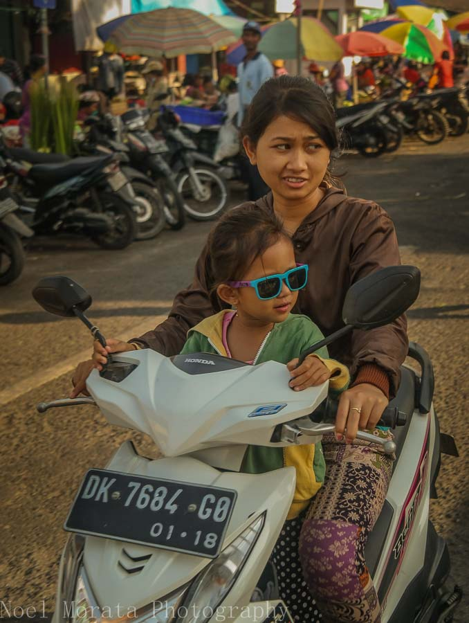 Traveling to the local market in Tabanan, Bali - Markets in Bali