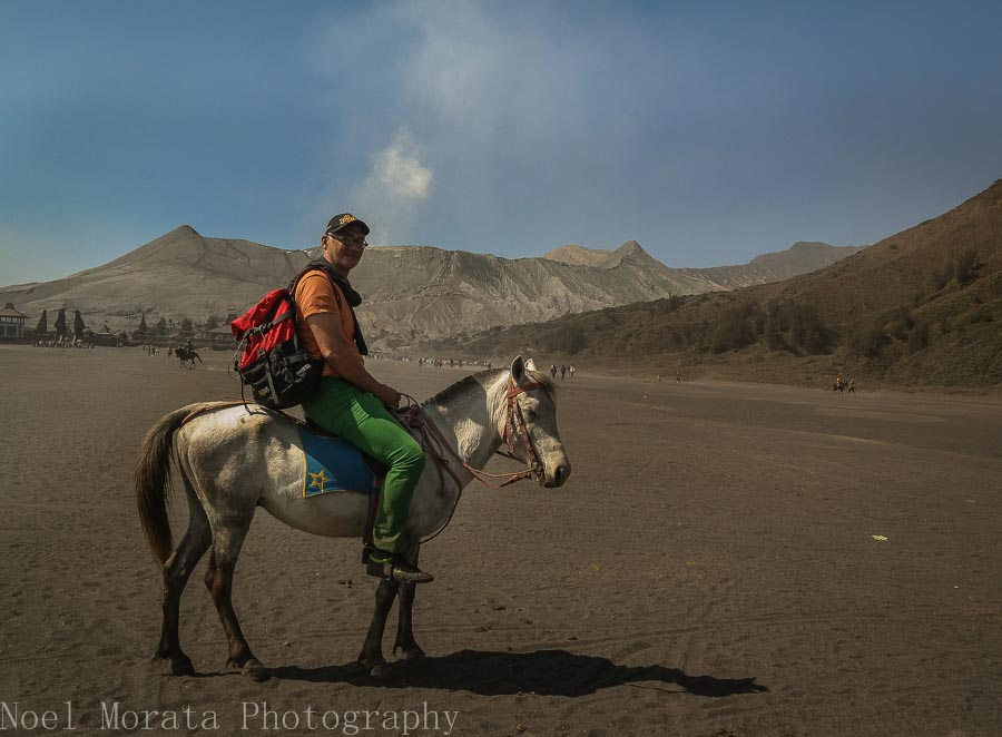 Another selfie with my horse - Visiting Mt. Bromo, Indonesia