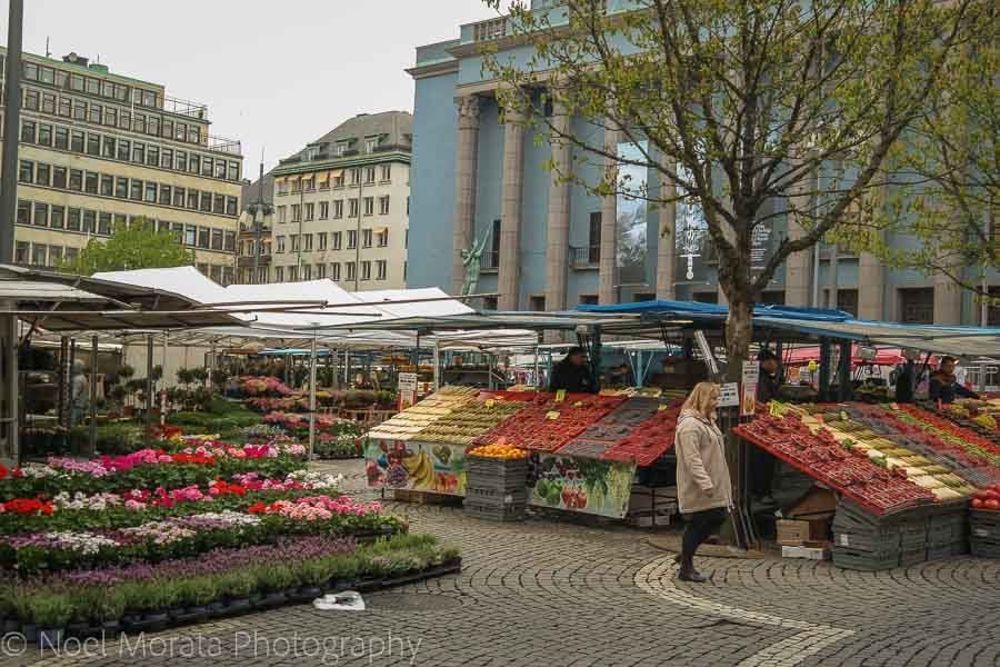 Morning outdoor market - Visiting Stockholm - a first impression