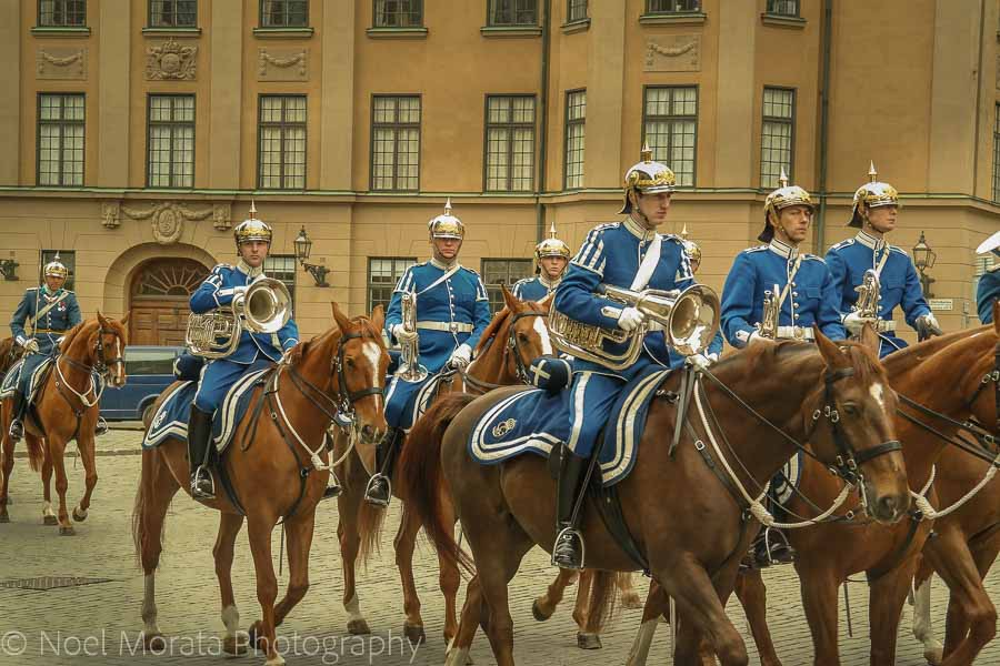 Changing of the guard at Stockholm's royal palace in Gamla Stan