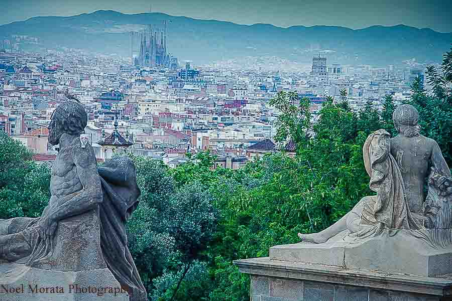 Barcelona views from Montjuic - Top food destinations around the world
