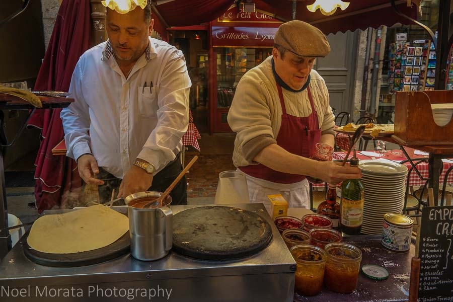 Crepes in Lyon's old town - Top food destinations