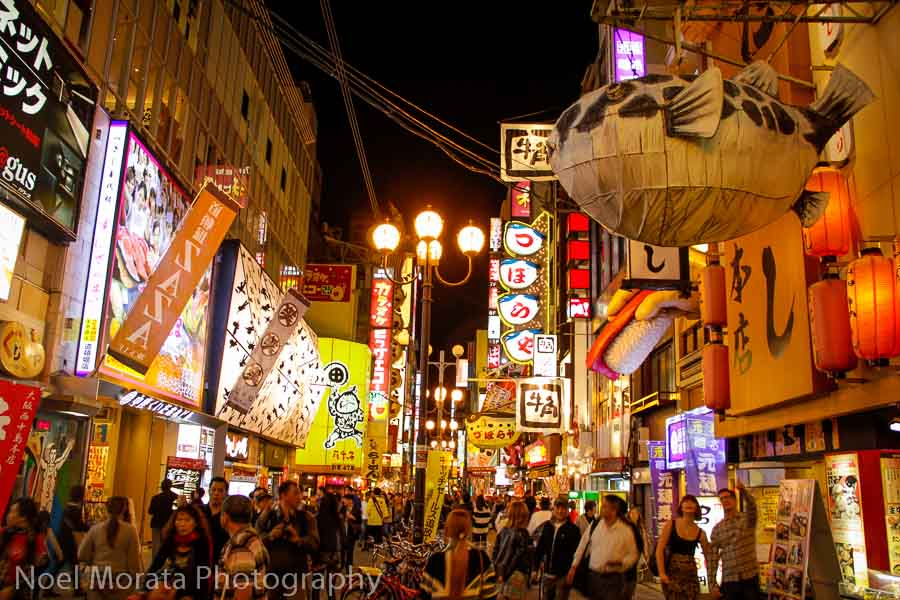 Night time in Dotonbori Exploring Dotonbori in Osaka
