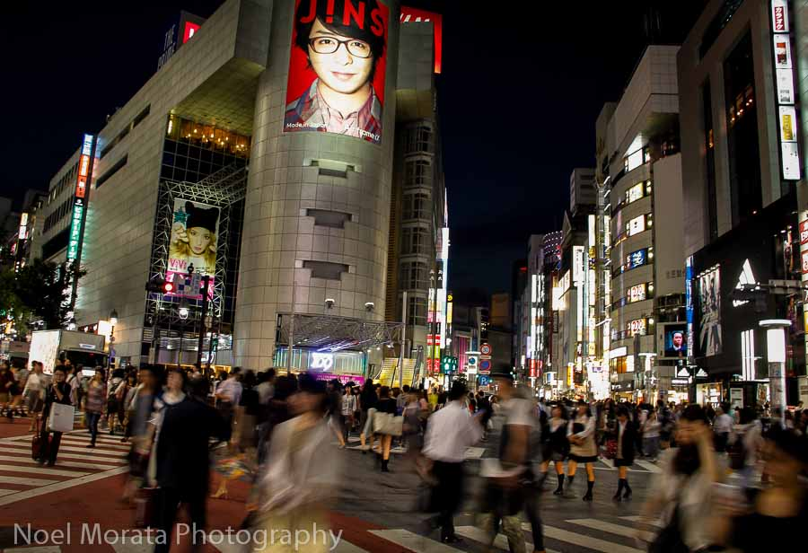Shibuya Crossing in the Shibuya district of Tokyo